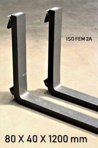 Gabelzinken ISO FEM 2A 80 x 40 x 1200 mm 2000kg Gabelstapler Zinken Stapler
