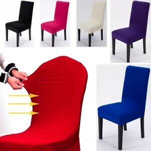 2/4/6Pcs Stretch Elastic Chair Covers Wedding Party Decor Dining Room Seat Cover