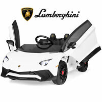 BCP 12V Kids Ride-On Lamborghini Aventador SV Sports Car Toy w/ Parent Control