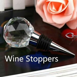 Round Crystal Glass Bar Tools Wine Stoppers Ball Vacuum Seal Wine Stopper Home