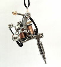Tattoo Gun Machine Men's Unisex Unusual Necklace Steampunk Ink Gift for Him Her