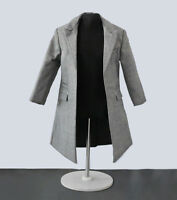 """1:6 Scale Male Gray Coat Suit Windbreaker Clothes Model For 12"""" Action Figure"""