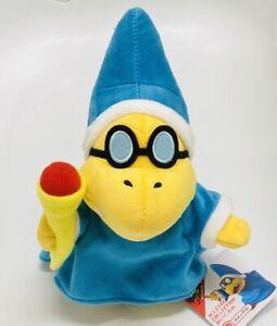 "BNWT Nintendo Sanei Super Mario All Star Collection Magikoopa Kamek Plush 8"" Toy"