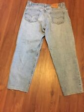 Vintage Levis 505 Mens Jeans 36x28 Regular Fit Tapered Leg Zip Fly Made In USA