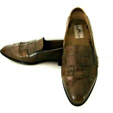 Giorgio Brutini men's 11D Leather Loafers Brown Handcrafted in Brazil