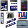 NFL New York Giants Premium Vinyl Decal / Sticker / Emblem - Pick Your Pack