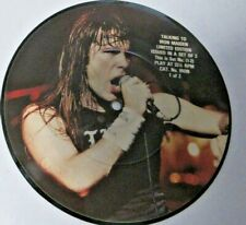 """Iron Maiden (2) Interview Discs- Limited Edition -7"""" 45 rpm heavy metal"""