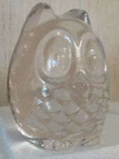 """Beautiful Lenox Fine Imperial Crystal """"Wise Owl"""" Paperweight 4""""T. x 3""""W. Usa."""