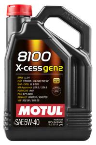 5 LT OLIO MOTORE AUTO 8100 X-cess GEN2 5W-40 MOTUL 100% SINTETICO ACEA A3/B4
