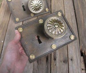 2x Beautiful Vintage Heavy Bronze Door Knobs / Handles