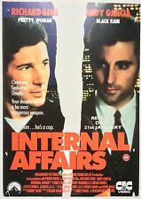 INTERNAL AFFAIRS / ORIGINAL VINTAGE VIDEO FILM POSTER / RICHARD GERE 5