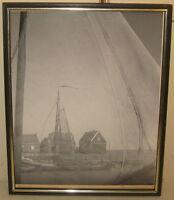 Vintage HARVEY FALK 'Through the Nets' FLORIDA Fishing Docks Pictorialist PHOTO