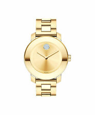 MOVADO BOLD 3600104 Gold Ion Plated Stainless Steel Crystal Dot Ladies Watch