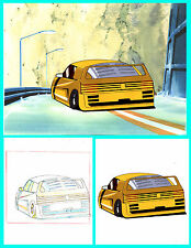 Tatsuya Egawa's Golden Boy:  Ferrari Anime Cel+ Douga, Colored Background