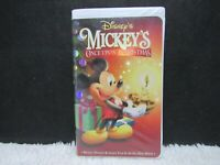 1999 Mickey's Once Upon A Christmas, Walt Disney, Clamshell Case, VHS Tape