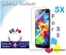 5X Protecteur Ecran ULTRA clair Samsung Galaxy S5 S 5 LCD Clear Screen Protector