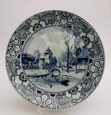 Franz Anton Mehlem Bonn Wandteller Dekor Delft 636