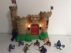 Vintage Fisher Price Great Adventures Magic Lion Castle Playset Toys Bundle