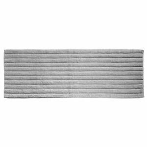 "mDesign Soft 100% Cotton X-Long Accent Rug Mat/Runner, Ribbed, 60"" x 21"" - Gray"