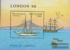 Nicaragua Bloc 189 (complète edition) neuf avec gomme originale 1990 Vieux batea