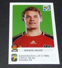 260 MANUEL NEUER ROOKIE EXTRA-STICKER PANINI FOOTBALL FIFA WORLD CUP 2010