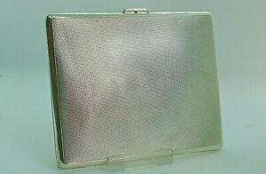 Solid Silver Cigarette/Card Case 4.5 ozs Birmingham 1941 by William Suckling