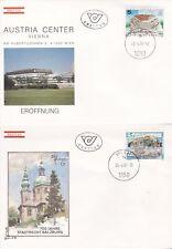 Österreich 1987: FDC Eröffnung Austria Center Wien, 700 J. Stadtrecht Salzburg
