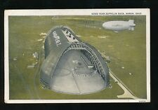 USA Ohio AKRON Good Year ZEPPELIN Dock 1931 PPC balloon dirigible
