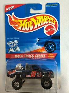 1996 Hot Wheels #383 Race Truck Series 4/4 NISSAN TRUCK Dark Blue w/ Chrome CT