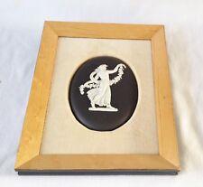 Framed Wedgwood Dancing Hours Plaque - Black Jasperware