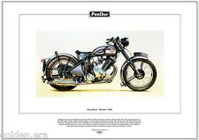 PANTHER MODEL 100 - Classic Motorcycle Fine Art Print - 600cc  P & M  Motorbike