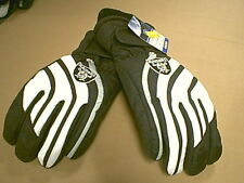NFL REEBOK  OAKLAND RAIDERS WINTER NYLON GLOVES YOUTH MEDIUM   NWT