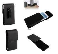 Leather Flip Belt Clip Metal Case Holster Vertical para => SAMSUNG GALAXY ACE 4