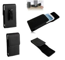 Leather Flip Belt Clip Metal Case Holster Vertical para => NOKIA LUMIA 710