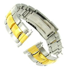 16-22mm Speidel Two Tone Stainless Steel Deployment Buckle Watch Band 1615/15
