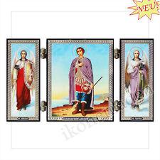 Ikone Dimitrios von Thessaloniki Holz Triptychon Icône icon икона Дмитрий