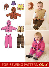 SEWING PATTERN! MAKE BABY BOY/GIRL CLOTHES! COAT~OVERALLS~VEST! PREEMIE-24 LBS