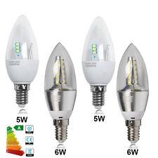 6x LED 5W 6W E14 Candle Bulbs SES Small Edison Screw Chandelier Downlight Globe