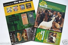 "BEACH BOYS ""PET SOUNDS/XMAS CLASSIC"" 2-SIDED U.S. PROMO POSTER FLAT/DIVIDER CARD"
