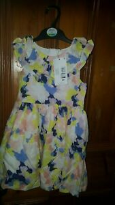GIRLS MULTI COLOUR SUMMER DRESS M&S SLEEVELESS AGE 4-5Y NEW WITH TAGS 22.00 TAG