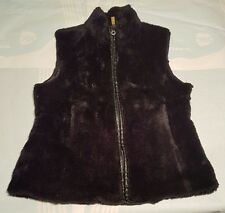 Ladies Faux Fur Gilet Bodywarmer Size 12 Winter