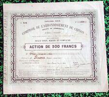 Dépt 37 - Chinon - Très Rare Action de 500 F Comptoir de l'Arr. de Chinon  1864