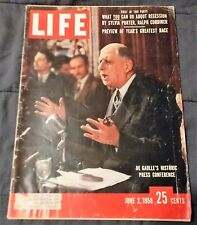 LIFE Magazine June 2, 1958 DeGaulle's Historic Press Conference Good+ Cond