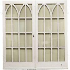Gothic Style Glazed Mahogany Double Doors