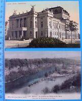 2 seltene alte Ansicht Postkarten ZÜRICH / GENEVE Lot postcards old Schweiz