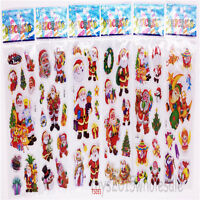 6 Sheets Pvc Teacher Sticker Lot-Kids Reward Santa Claus Sticker  Festival Gifts