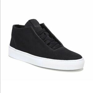 New VIA SPIGA Sartin Women's Black Suede Shearling Chukka Sneaker   Size 6.5