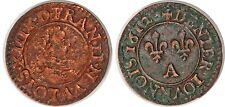LOUIS XIII DENIER TOURNOIS 1612 A G.1