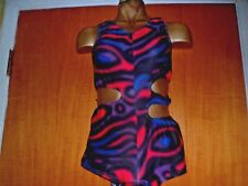 BLACK/PINK/BLUE/LYCRA/CATSUIT/28/32 INCH CHEST/FREESTYLE COSTUME