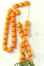 VINTAGE EGG YOLK AMBER FATURAN MUSLIM PRAYER BEADS